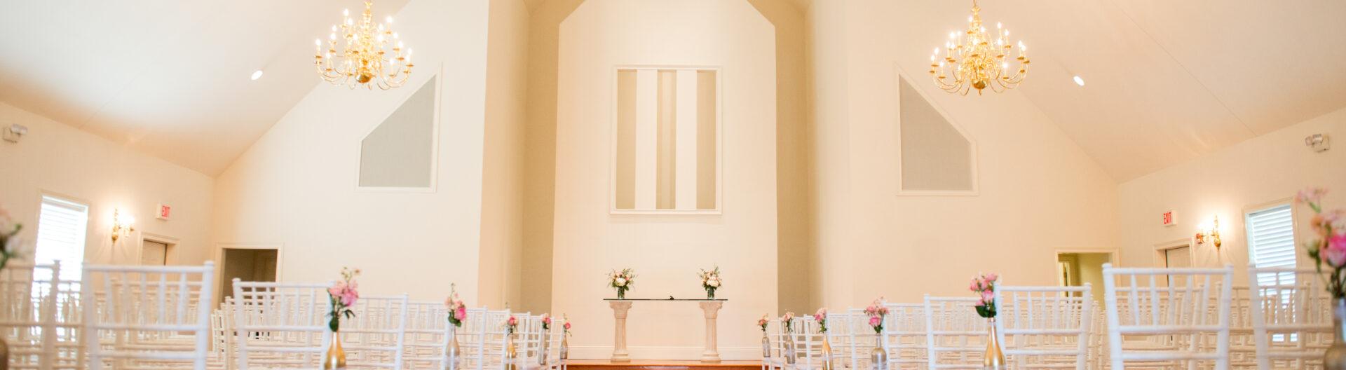 Ritz Charles Chapel Setup