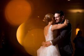 Ritz Charles Ballroom Newlyweds Dancing
