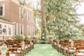 Lindley Farmstead Ceremony Outdoor by Mansion