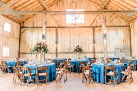 Barn Wedding Venue Blue Linens