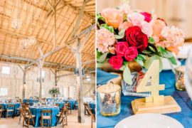 Barn Wedding Table Settings