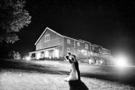 Wedding Barn at Night